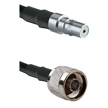 QMA Female on LMR-195-UF UltraFlex to N Reverse Thread Male Cable Assembly