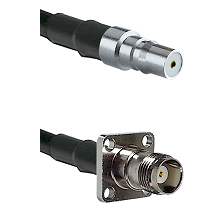 QMA Female on LMR-195-UF UltraFlex to TNC 4 Hole Female Cable Assembly