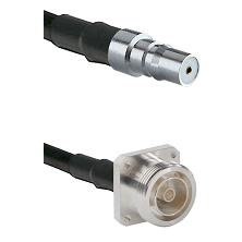 QMA Female Connector On LMR-240UF UltraFlex To 7/16 4 Hole Female Connector Cable Assembly