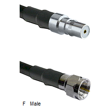 QMA Female Connector On LMR-240UF UltraFlex To F Male Connector Cable Assembly