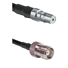 QMA Female Connector On LMR-240UF UltraFlex To HN Female Connector Cable Assembly