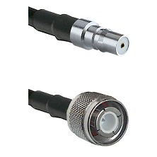 QMA Female Connector On LMR-240UF UltraFlex To HN Male Connector Cable Assembly