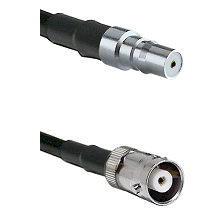 QMA Female Connector On LMR-240UF UltraFlex To MHV Female Connector Cable Assembly