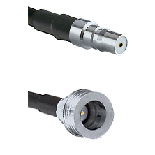 QMA Female Connector On LMR-240UF UltraFlex To QN Male Connector Cable Assembly