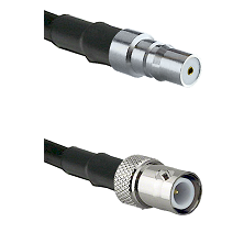 QMA Female on LMR240 Ultra Flex to BNC Reverse Polarity Female Cable Assembly