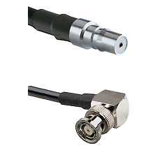 QMA Female on LMR240 Ultra Flex to BNC Reverse Polarity Right Angle Male Cable Assembly