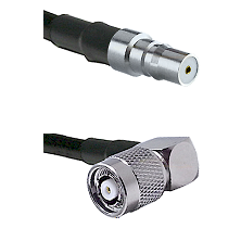 QMA Female on LMR240 Ultra Flex to TNC Reverse Polarity Right Angle Male Cable Assembly