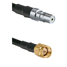QMA Female on LMR240 Ultra Flex to SMA Reverse Thread Male Cable Assembly