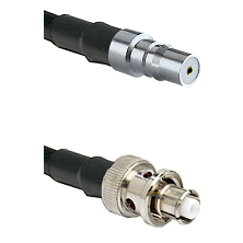 QMA Female Connector On LMR-240UF UltraFlex To SHV Plug Connector Cable Assembly