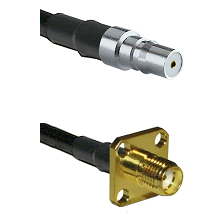 QMA Female Connector On LMR-240UF UltraFlex To SMA 4 Hole Female Connector Cable Assembly