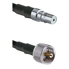 QMA Female on LMR240 Ultra Flex to UHF Male Cable Assembly