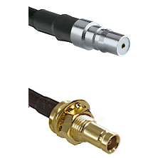 QMA Female on RG142 to 10/23 Female Bulkhead Cable Assembly