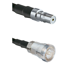 QMA Female on RG142 to 7/16 Din Female Cable Assembly