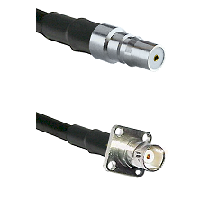 QMA Female on RG142 to BNC 4 Hole Female Cable Assembly