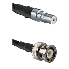 QMA Female on RG142 to BNC Male Cable Assembly