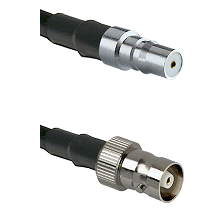QMA Female on RG142 to C Female Cable Assembly
