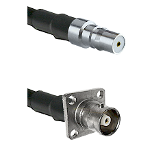 QMA Female on RG142 to C 4 Hole Female Cable Assembly