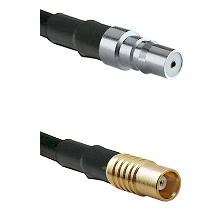 QMA Female on RG142 to MCX Female Cable Assembly