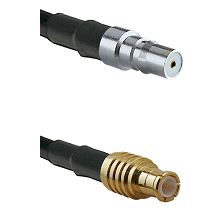 QMA Female on RG142 to MCX Male Cable Assembly