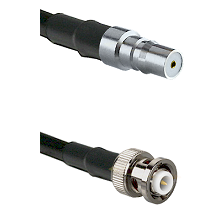 QMA Female on RG142 to MHV Male Cable Assembly