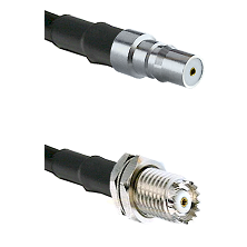 QMA Female on RG142 to Mini-UHF Female Cable Assembly