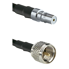 QMA Female on RG142 to Mini-UHF Male Cable Assembly