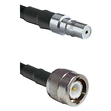 QMA Female on RG58C/U to C Male Cable Assembly