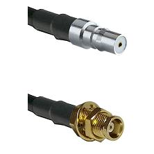 QMA Female on RG58C/U to MCX Female Bulkhead Cable Assembly
