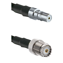 QMA Female on RG58 to Mini-UHF Female Cable Assembly