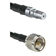 QMA Female on RG58C/U to Mini-UHF Male Cable Assembly