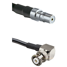 QMA Female on RG58C/U to MHV Right Angle Male Cable Assembly
