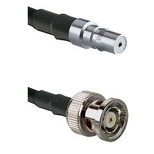 QMA Female on RG58C/U to BNC Reverse Polarity Male Cable Assembly