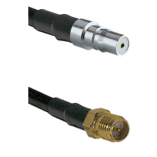 QMA Female on RG58C/U to SMA Reverse Polarity Female Cable Assembly