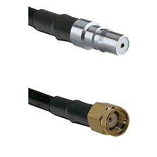 QMA Female on RG58C/U to SMA Reverse Polarity Male Cable Assembly