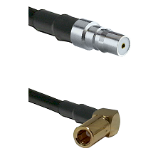 QMA Female on RG58C/U to SLB Right Angle Female Cable Assembly