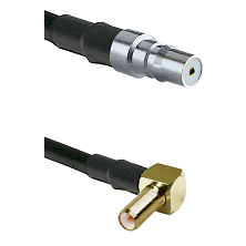 QMA Female on RG58C/U to SLB Right Angle Male Cable Assembly