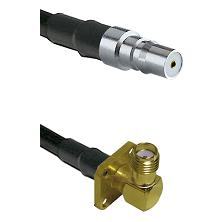QMA Female on RG58C/U to SMA 4 Hole Right Angle Female Cable Assembly