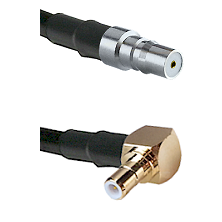 QMA Female on RG58C/U to SMB Right Angle Male Cable Assembly
