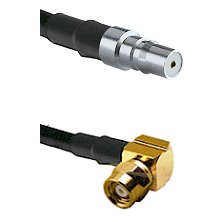 QMA Female on RG58C/U to SMC Right Angle Female Cable Assembly