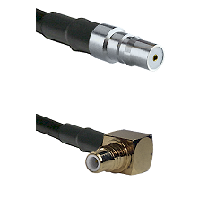 QMA Female on RG58C/U to SMC Right Angle Male Cable Assembly