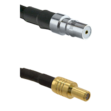 QMA Female on RG58C/U to SLB Male Cable Assembly