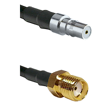 QMA Female on RG58C/U to SMA Female Cable Assembly
