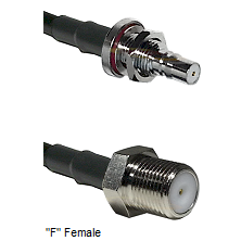 QMA Female Bulkhead Connector On LMR-240UF UltraFlex To F Female Connector Cable Assembly