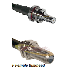 QMA Female Bulkhead Connector On LMR-240UF UltraFlex To F Female Bulkhead Connector Coaxial Cable As