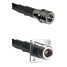 QMA Male on Belden 83242 RG142 to N 4 Hole Female Cable Assembly