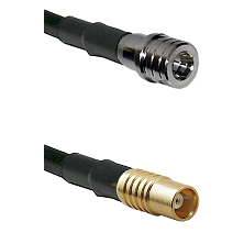 QMA Male on LMR100 to MCX Female Cable Assembly