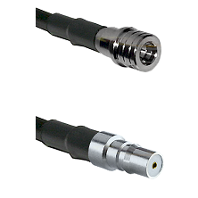 QMA Male on LMR100/U to QMA Female Cable Assembly