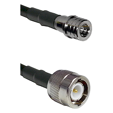 QMA Male Connector On LMR-240UF UltraFlex To C Male Connector Cable Assembly