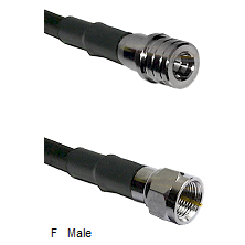 QMA Male Connector On LMR-240UF UltraFlex To F Male Connector Cable Assembly