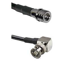 QMA Male on LMR240 Ultra Flex to BNC Reverse Polarity Right Angle Male Cable Assembly
